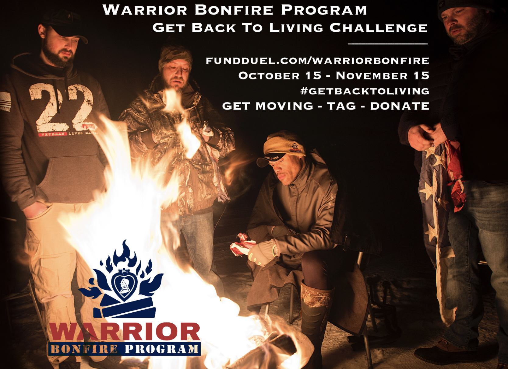 Join Warrior Bonfire Program in fundraising challenge for Diamonds and Dogtags Join the campaign as we head to a memorable live-streaming event on November 7th